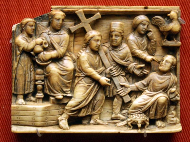 Великая Пятница. Крестный путь Спасителя. Слоновая кость. Британский музей. 420-430 гг.