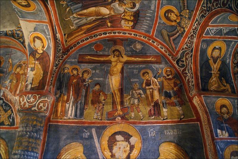 Великая Пятница. Распятие. Пещерная церковь, Каппадокия. XI в.