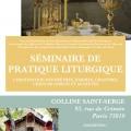 Séminaire de pratique liturgique