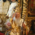 Greek Orthodox Ecumenical Patriarch Bartholomew I conducts Orthodox Easter service in Istanbul
